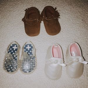 Baby girl shoes bundle size 2 or 3-6 months